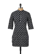 Black And White Printed Kurti - Meira