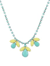 Turquoise And Yellow Necklace With Acrylic Beads - Addons