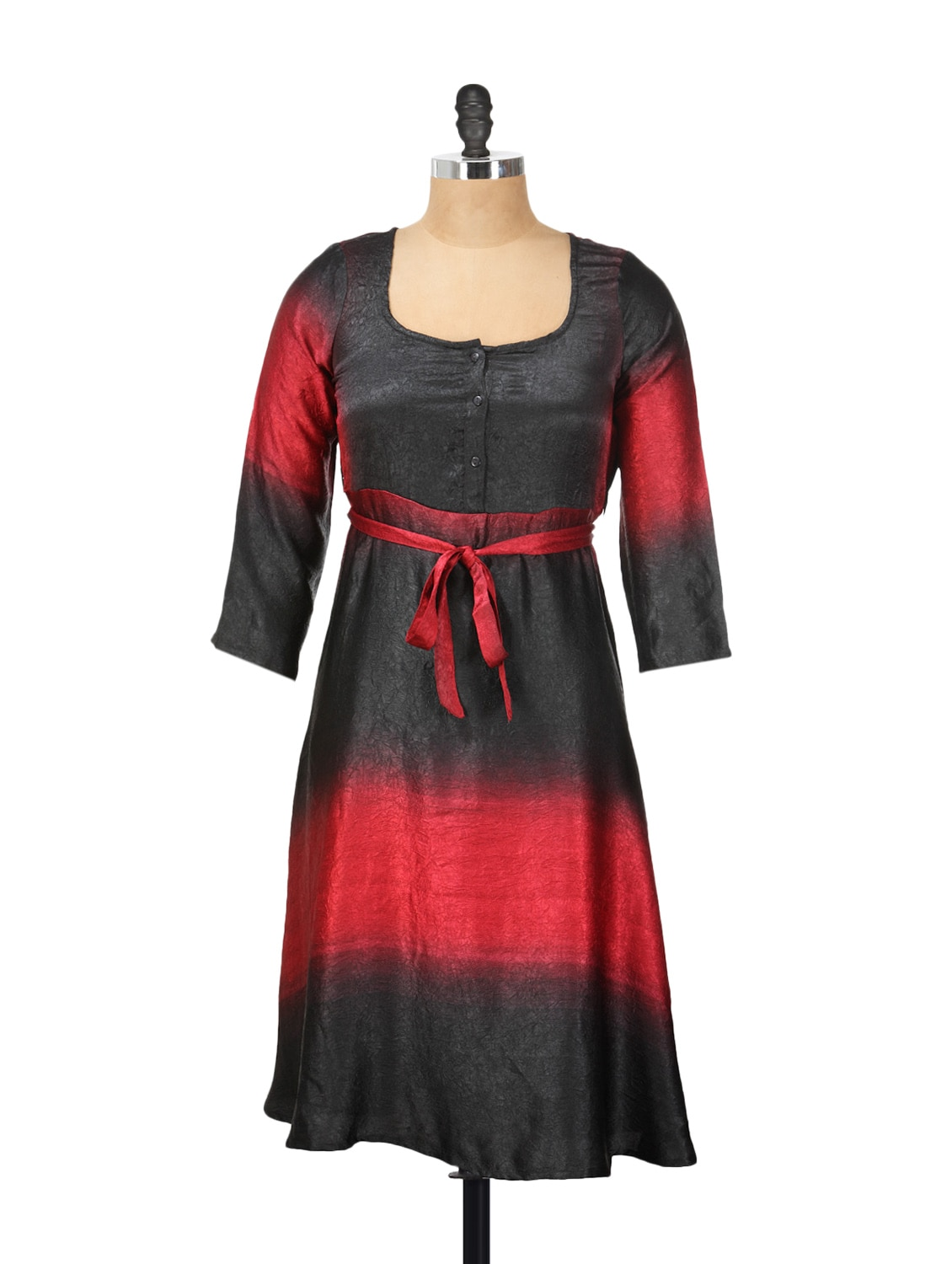 Black And Red Ombre Dress - Meira
