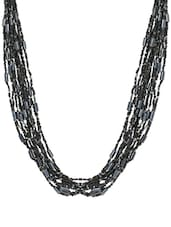Black Bead Multistring Necklace - Laron Handicrafts