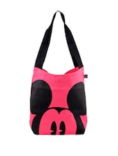 Pink And Black Mickey Mouse Print - Be... For Bag