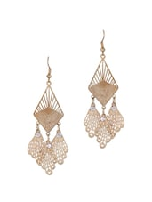 GOLD DANGLER EARRINGS - THE BLING STUDIO