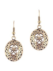 ANTIQUE GOLD ROUND EARRINGS - THE BLING STUDIO