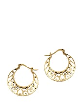 GOLD MESH ROUND HOOPS - THE BLING STUDIO