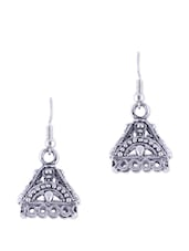 ANTIQUE SILVER SMALL JHUMKAS - THE BLING STUDIO