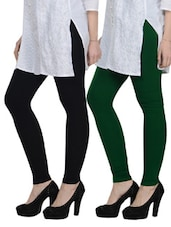 Cotton Lycra Leggings- Pack Of 2 - By - 892853