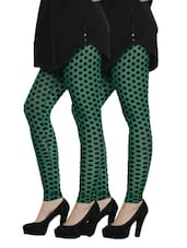 Cotton Lycra Leggings- Pack Of 2 - By