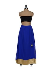 Royal Blue Georgette Skirt - Purple Oyster
