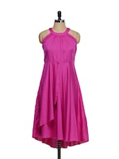 Bright Pink Ruffled Dress - M Expose