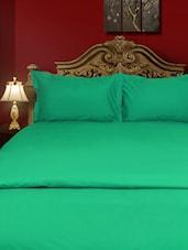 Cotton Percale Medium Aquamarine Flat Twin Bed Sheet Set - Just Linen