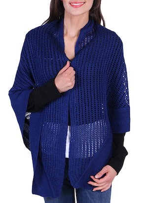 Warm And Cozy Blue Wrap