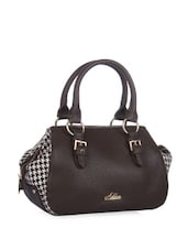 Stylish Brown Houndstooth Duffle Bag - Addons