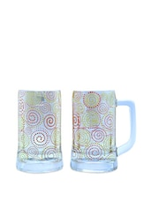 Polka Paisley Beer Mugs Set Of 2 - The Elephant Company