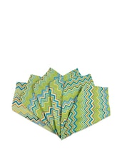 Chevron Peacock Hand Towels Set Of 6 - The Elephant Company
