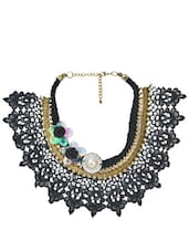 Chunky Black Lace Necklace - By