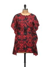 Red And Black Kaftan Style Top - L'elegantae