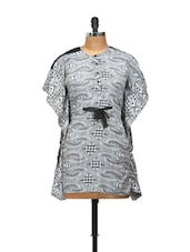 Black And White Transparent Kaftan Top - L'elegantae
