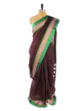 Elegant Brown Saree With Blouse Piece - ROOP KASHISH