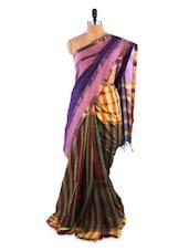 Elegant Purple Saree With Blouse Piece - ROOP KASHISH