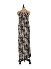Abstract Print Maxi Dress - Nangalia Ruchira