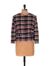 Plaid Wool Blend Jacket - Nangalia Ruchira