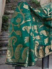 Green And Copper Paisley Saree - BANARASI STYLE