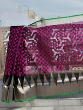 Checkered Net Banarasi Saree - BANARASI STYLE
