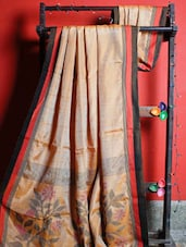 Elegant Orange Handloom Resham Saree - Cotton Koleksi