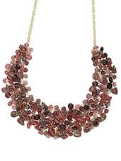 Cluster Of Beads Choker Neckpiece In Fabulous Pink - Blueberry