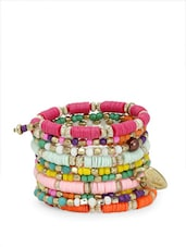 Spiral Bracelet In Beautiful Colours - Blueberry