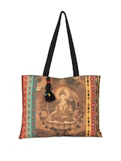 Buddha Graphic Cotton Canvas Handbag - The House Of Tara