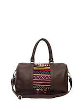 Tribal Touch Brown Duffle Bag - The House Of Tara