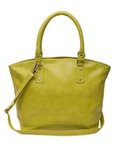 Lime Green Leatherette Tote - The House Of Tara