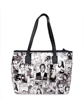 Trendy Black And White Vogue Print Tote Bag - Di Tutti