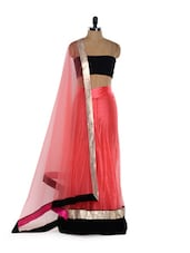 Pretty Net Semi-stitched Lehenga - Get Style At Home