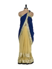Blue And Gold Luxe Evening Saree - Get Style At Home