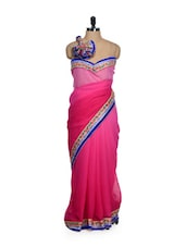 Ombre Pink Georgette Saree - Get Style At Home