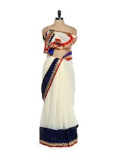 Chic White Georgette Saree - Get Style At Home