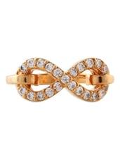 Diamante Infinity Gold Ring - Ziveg