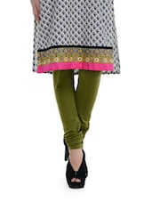 Olive Green Churidar Leggings - TSG Breeze