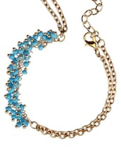 Trendy Costume Blue Beads Bracelet With Ring - Fayon