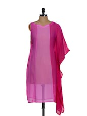 Pink Asymmetrical Dress - Zzaaki