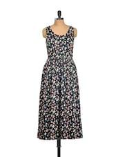 Long Black Floral Dress - Mishka