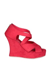 Strappy Red Wedges - Soft & Sleek