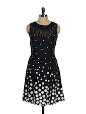 Black And White Polka Dot Dress - Eavan