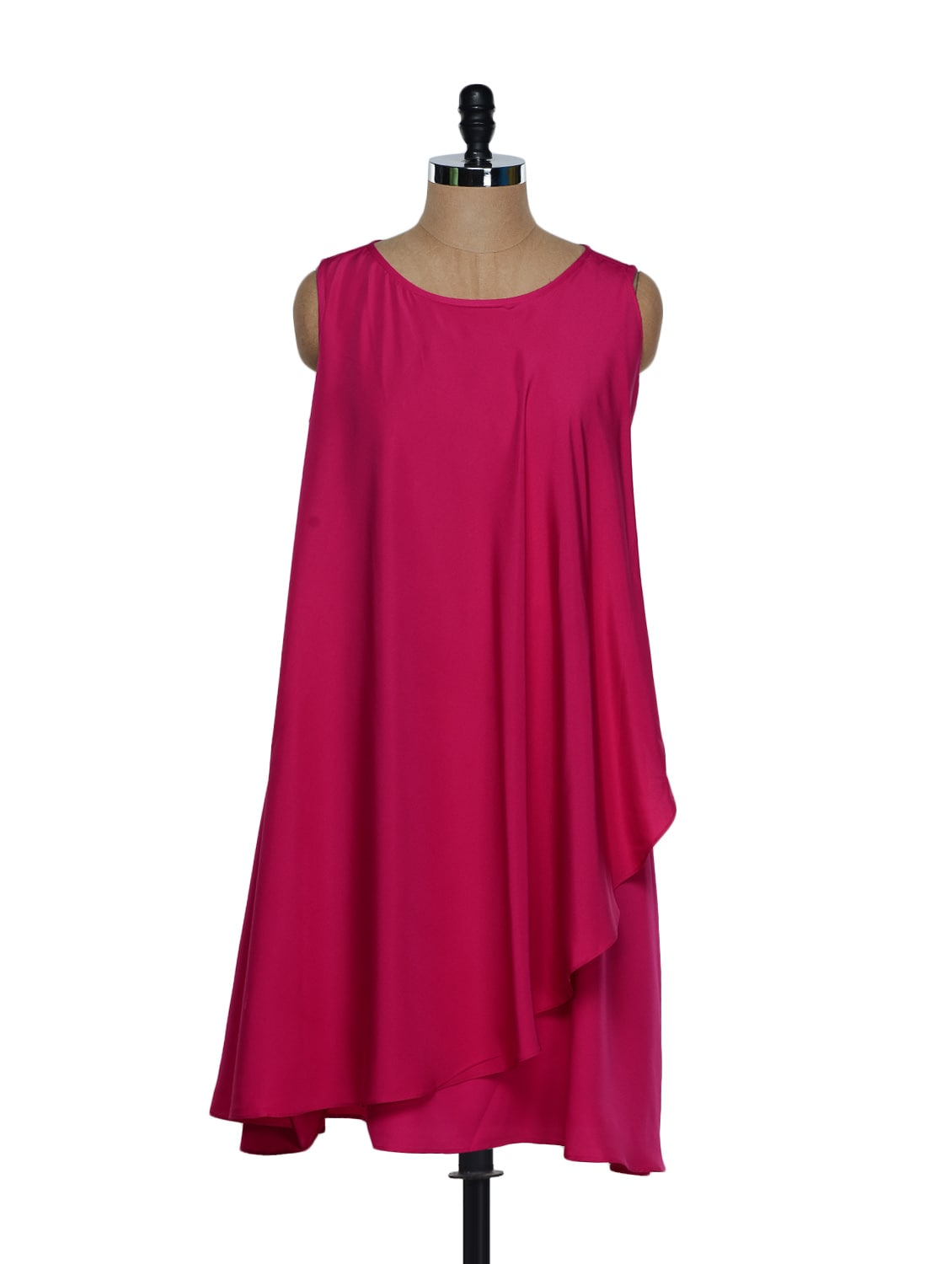 Fuchsia Pink Asymmetrical Dress - Eavan