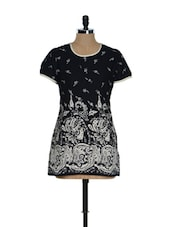 Black And White Printed Kurti - Needle Value