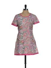 Pink Paisley Print Kurti - Needle Value