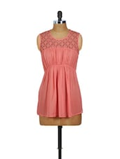 Pink Lacy Sleeveless Top - CHERYMOYA