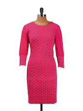 Duck Print Pink Fitted Dress - CHERYMOYA